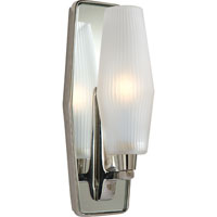 Visual Comfort Barbara Barry Lighten Up 1 Light Bath Wall Light in Polished Nickel BBL2034PN-FG