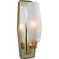 Visual Comfort Barbara Barry Lighten Up 1 Light Bath Wall Light in Soft Brass BBL2034SB-FG