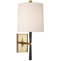 Visual Comfort BBL2036EBO-L Barbara Barry Refined Rib 1 Light 8 inch Ebony Resin and Brass Wall Sconce Wall Light