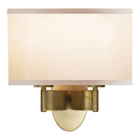 Visual Comfort Barbara Barry Graceful Ribbon 2 Light Decorative Wall Light in Soft Brass BBL2039SB-S