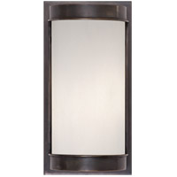 Visual Comfort Barbara Barry Normandy 1 Light Outdoor Wall Lantern in Bronze with Frosted Glass Shade BBL2061BZ-FG