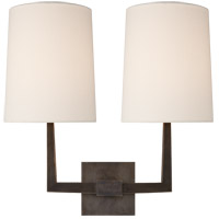 Visual Comfort Barbara Barry Ojai 2 Light 17 inch Bronze Double Arm Sconce Wall Light, Large BBL2084BZ-L - Open Box