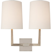 Visual Comfort BBL2084PN-L Barbara Barry Ojai 2 Light 17 inch Polished Nickel Double Arm Sconce Wall Light, Large