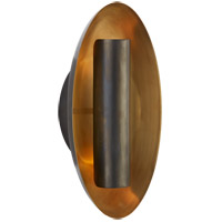 Visual Comfort BBL2120BZ Barbara Barry Aura 2 Light 7 inch Bronze Sconce Wall Light, Medium Oval