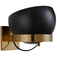 Visual Comfort BBL2150SB-BLK Barbara Barry Lightwell 1 Light 9 inch Soft Brass Rotating Wall Sconce Wall Light in Black, Small