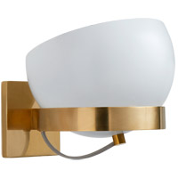 Visual Comfort BBL2150SB-WHT Barbara Barry Lightwell 1 Light 9 inch Soft Brass Rotating Wall Sconce Wall Light in White, Small
