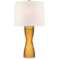 Visual Comfort BBL3121AMB-L Barbara Barry Seine 34 inch 100 watt Amber Table Lamp Portable Light Medium