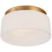 Visual Comfort BBL4092G-WG Barbara Barry Halo LED 6 inch Gild Flush Mount Ceiling Light, Petite
