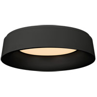 Visual Comfort BBL4096BLK Barbara Barry Halo 1 Light 18 inch Matte Black Flush Mount Ceiling Light photo thumbnail
