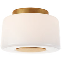 Barbara Barry Acme 3 Light 9 inch Soft Brass Flush Mount Ceiling Light, Small