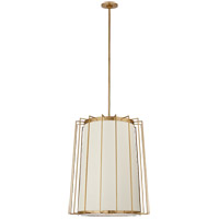 Visual Comfort BBL5013SB-L Barbara Barry Carousel 2 Light 24 inch Soft Brass Lantern Pendant Ceiling Light, Medium Tapered