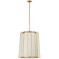 Visual Comfort BBL5013SB-L Barbara Barry Carousel 2 Light 24 inch Soft Brass Lantern Pendant Ceiling Light Medium Tapered