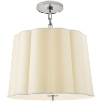 Visual Comfort BBL5015SS-S Barbara Barry Simple 5 Light 25 inch Soft Silver Hanging Shade Ceiling Light