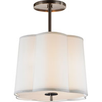 Visual Comfort BBL5016BZ-S Barbara Barry Simple 3 Light 16 inch Bronze Hanging Shade Ceiling Light