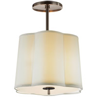 Barbara Barry Simple 3 Light 16 inch Bronze Hanging Shade Ceiling Light