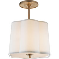 Barbara Barry Simple 3 Light 16 inch Soft Brass Hanging Shade Ceiling Light