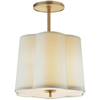Visual Comfort BBL5016SB-S Barbara Barry Simple 3 Light 16 inch Soft Brass Hanging Shade Ceiling Light