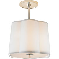 Barbara Barry Simple 3 Light 16 inch Soft Silver Hanging Shade Ceiling Light
