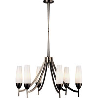Visual Comfort Barbara Barry Bowmont 6 Light Chandelier in Bronze with Wax BBL5021BZ-WG