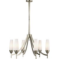 Visual Comfort Barbara Barry Bowmont 6 Light Chandelier in Pewter Finish BBL5021PWT-WG