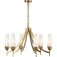 Visual Comfort Barbara Barry Bowmont 6 Light Chandelier in Soft Brass BBL5021SB-WG