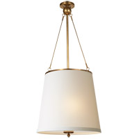 Visual Comfort BBL5023SB-S Barbara Barry Westport 3 Light 18 inch Soft Brass Hanging Shade Ceiling Light