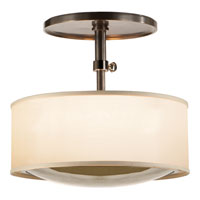 Visual Comfort Barbara Barry Reflection 2 Light Hanging Shade in Bronze with Wax BBL5024BZ-S