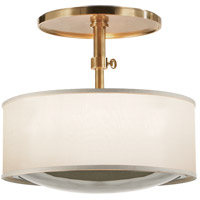 Barbara Barry Reflection 2 Light 15 inch Soft Brass Hanging Shade Ceiling Light