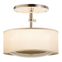 Visual Comfort BBL5024SS-S Barbara Barry Reflection 2 Light 15 inch Soft Silver Hanging Shade Ceiling Light
