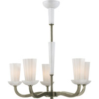 Visual Comfort Barbara Barry All Aglow 6 Light Chandelier in Pewter Finish BBL5026PWT-WG