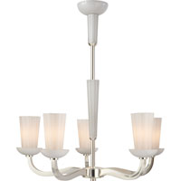 Visual Comfort Barbara Barry All Aglow 6 Light Chandelier in Soft Silver BBL5026SS-WG