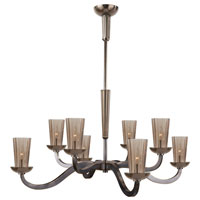 Visual Comfort Barbara Barry All Aglow Large All Aglow Chandelier in Bronze with Amethyst Glass BBL5028BZ-AMT
