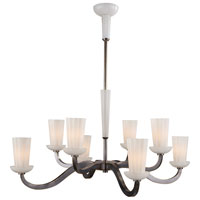 Visual Comfort Barbara Barry All Aglow 8 Light Chandelier in Bronze with Wax BBL5028BZ-WG