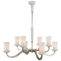 Visual Comfort Barbara Barry All Aglow 8 Light Chandelier in Pewter Finish BBL5028PWT-WG