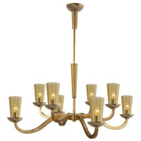 Visual Comfort Barbara Barry All Aglow Large All Aglow Chandelier in Soft Brass with Amber Glass BBL5028SB-AMB
