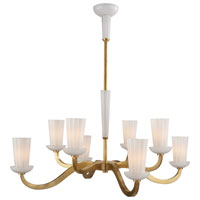 Visual Comfort Barbara Barry All Aglow 8 Light Chandelier in Soft Brass BBL5028SB-WG