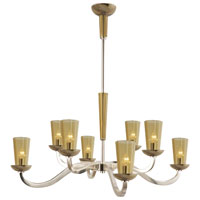 Visual Comfort Barbara Barry All Aglow Large All Aglow Chandelier in Soft Silver with Amber Glass BBL5028SS-AMB