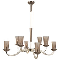 Visual Comfort Barbara Barry All Aglow Large All Aglow Chandelier in Soft Silver with Amethyst Glass BBL5028SS-AMT