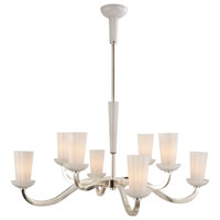 Visual Comfort Barbara Barry All Aglow 8 Light Chandelier in Soft Silver BBL5028SS-WG