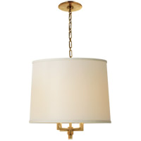 Visual Comfort BBL5030SB-L Barbara Barry Westport 4 Light 23 inch Soft Brass Hanging Shade Ceiling Light