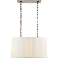 Visual Comfort BBL5031PWT-S Barbara Barry Perfect Pleat 4 Light 36 inch Pewter Hanging Shade Ceiling Light Oval
