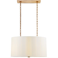 Barbara Barry Perfect Pleat 4 Light 36 inch Soft Brass Hanging Shade Ceiling Light, Oval