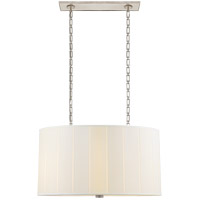 Barbara Barry Perfect Pleat 4 Light 36 inch Soft Silver Hanging Shade Ceiling Light, Oval
