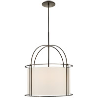 Visual Comfort BBL5055BZ-S Barbara Barry Capitol 4 Light 24 inch Bronze Foyer Lantern Ceiling Light, Barbara Barry, Wide, Silk Shade
