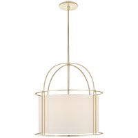 Barbara Barry Capitol 4 Light 24 inch Soft Brass Foyer Lantern Ceiling Light, Barbara Barry, Wide, Silk Shade