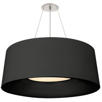 Visual Comfort BBL5090BLK Barbara Barry Halo 3 Light 28 inch Matte Black Hanging Shade Ceiling Light, Medium