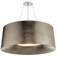 Visual Comfort BBL5090BSL Barbara Barry Halo 3 Light 27 inch Burnished Silver Leaf Hanging Shade Ceiling Light, Medium