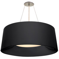 Visual Comfort BBL5090C Barbara Barry Halo 3 Light 27 inch Charcoal Hanging Shade Ceiling Light, Medium