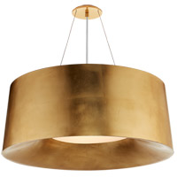 Visual Comfort BBL5090G Barbara Barry Halo 3 Light 28 inch Gild Hanging Shade Ceiling Light, Medium