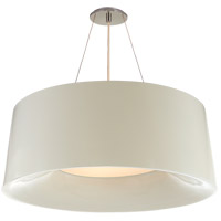 Visual Comfort BBL5090I Barbara Barry Halo 3 Light 28 inch Ivory Hanging Shade Ceiling Light, Medium